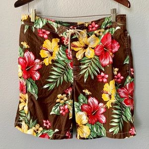 Polo Ralph Lauren Hawaiian Print Swim Shorts Med
